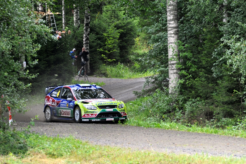 Jari-Matti Latvala, Ford Focus WRC, Neste Oil Rally 2010 Sirkkam�ki 1